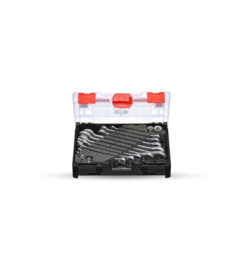 Schroefsleutels: Ratsch-Tech-set recht in STRAUSSbox mini