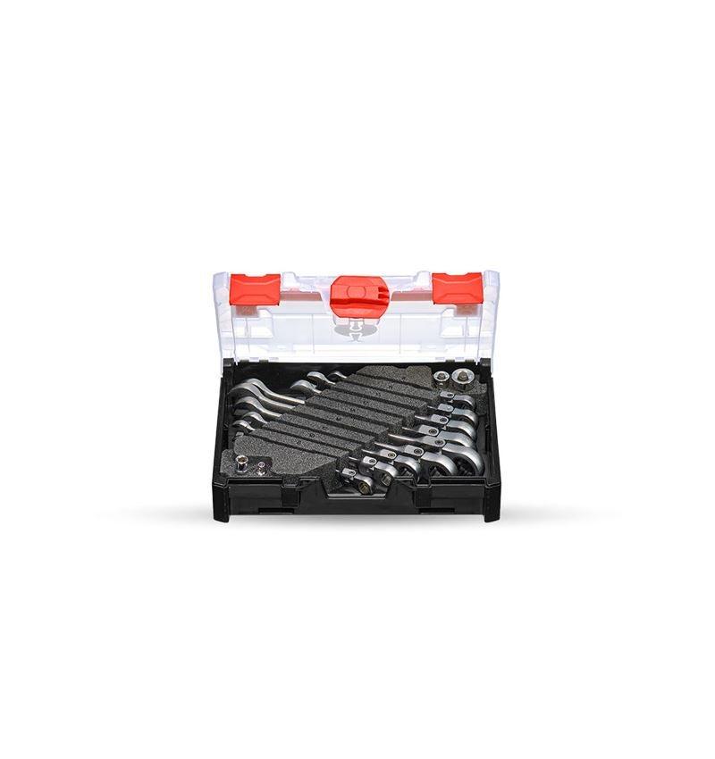 Schroefsleutels: Ratch-Tech-set met scharnier in STRAUSSbox mini