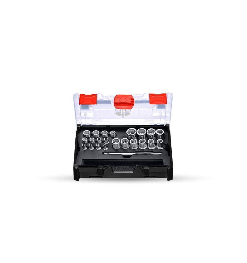 Dopsleutel: Steeksleutelset power grip 1/2+1/4 in STRAUSSbox