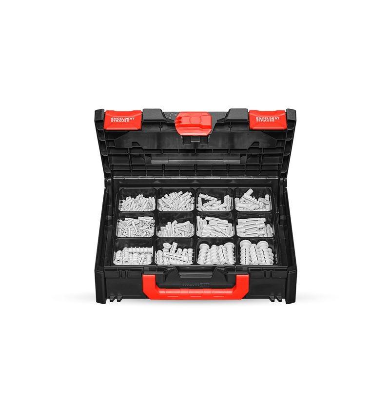 Pluggen: Assortiment montagepluggen in STRAUSSbox 118 midi