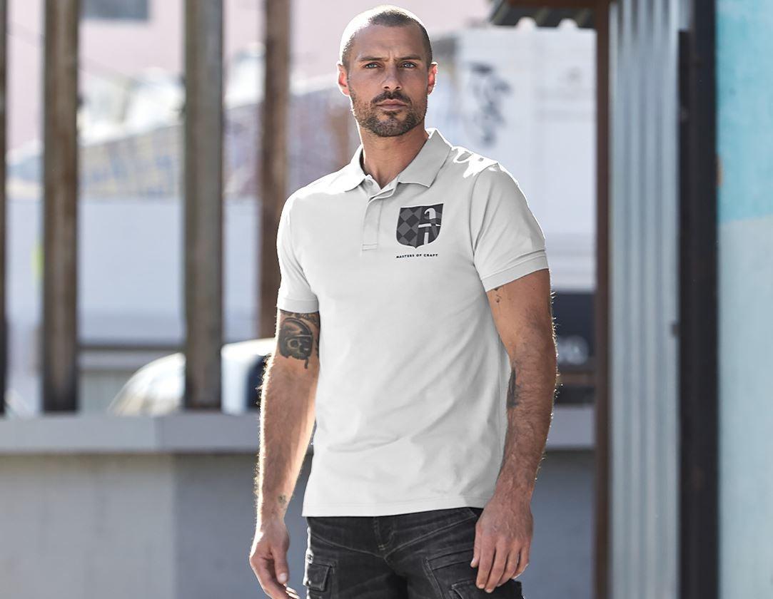 Bovenkleding: e.s. Polo-Shirt Masters of Craft + kristalgrijs