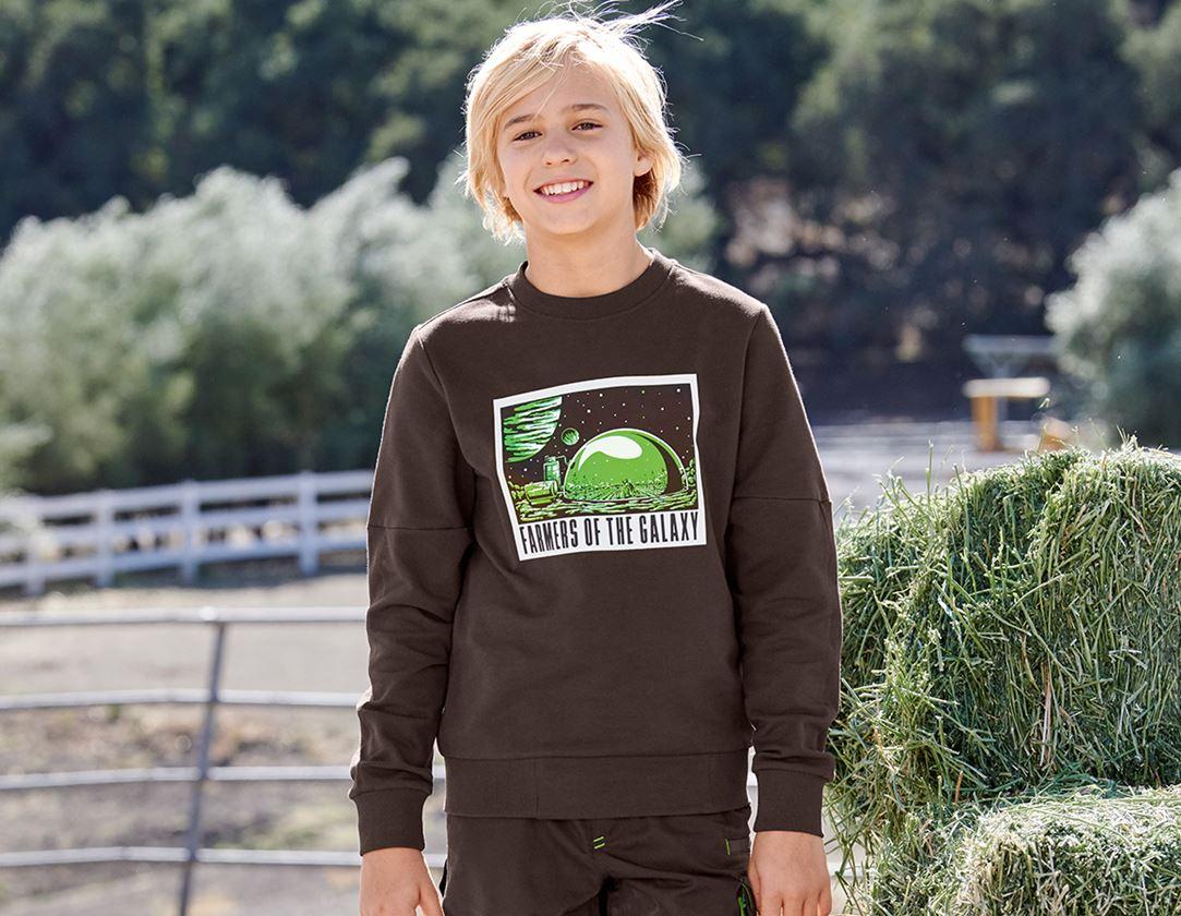Bovenkleding: e.s. Sweatshirt Mission 2020, kinderen + kastanje