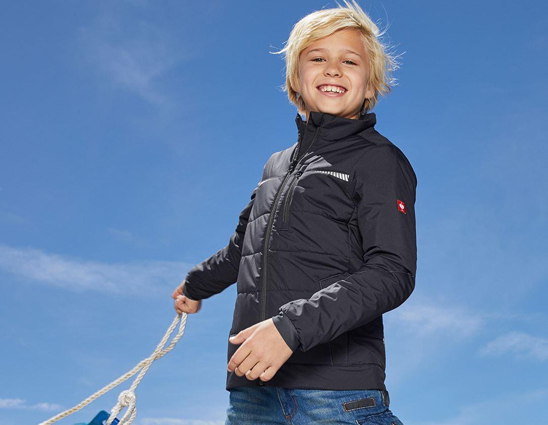 Jassen: Windbreaker e.s.motion 2020, kinderen + grafiet/gentiaanblauw