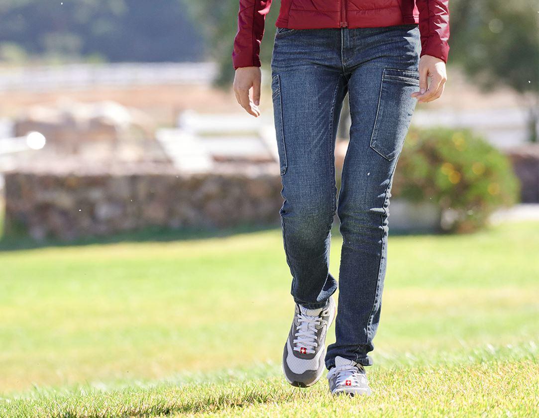 Werkbroeken: e.s. 7-pocket-jeans, dames + stonewashed