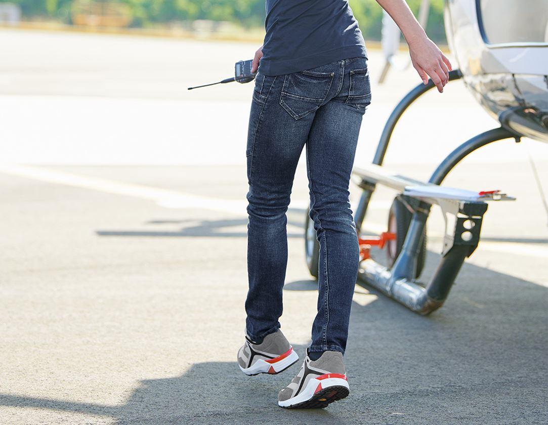 Werkbroeken: e.s. 7-pocket-jeans, dames + stonewashed 1