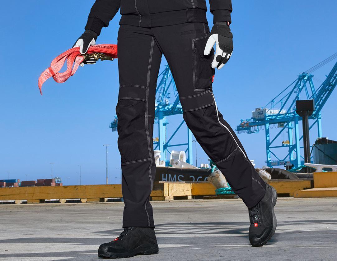 Werkbroeken: Functioneel werkbroek e.s.dynashield, dames + zwart