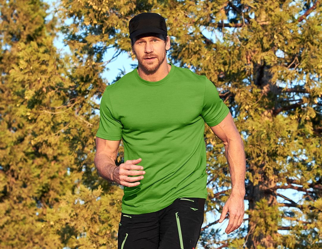Shirts & Co.: e.s. T-Shirt Merino light + seegrün