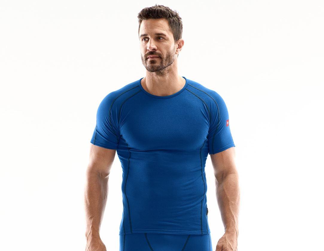 Ondergoed   Thermokleding: e.s. Functionele-T-Shirt clima-pro - warm, heren + gentiaanblauw