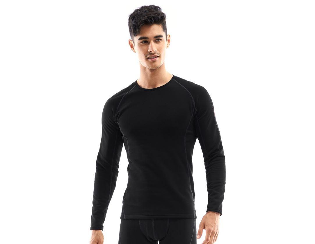 Ondergoed | Thermokleding: e.s. Functionele-Longsleeve thermo stretch-x-warm + zwart