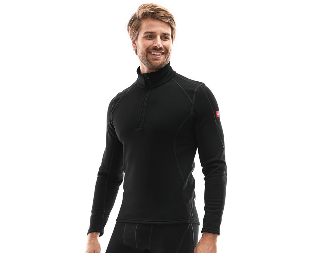 Ondergoed | Thermokleding: e.s. Funct.-Schipperstrui thermo stretch - x-warm + zwart