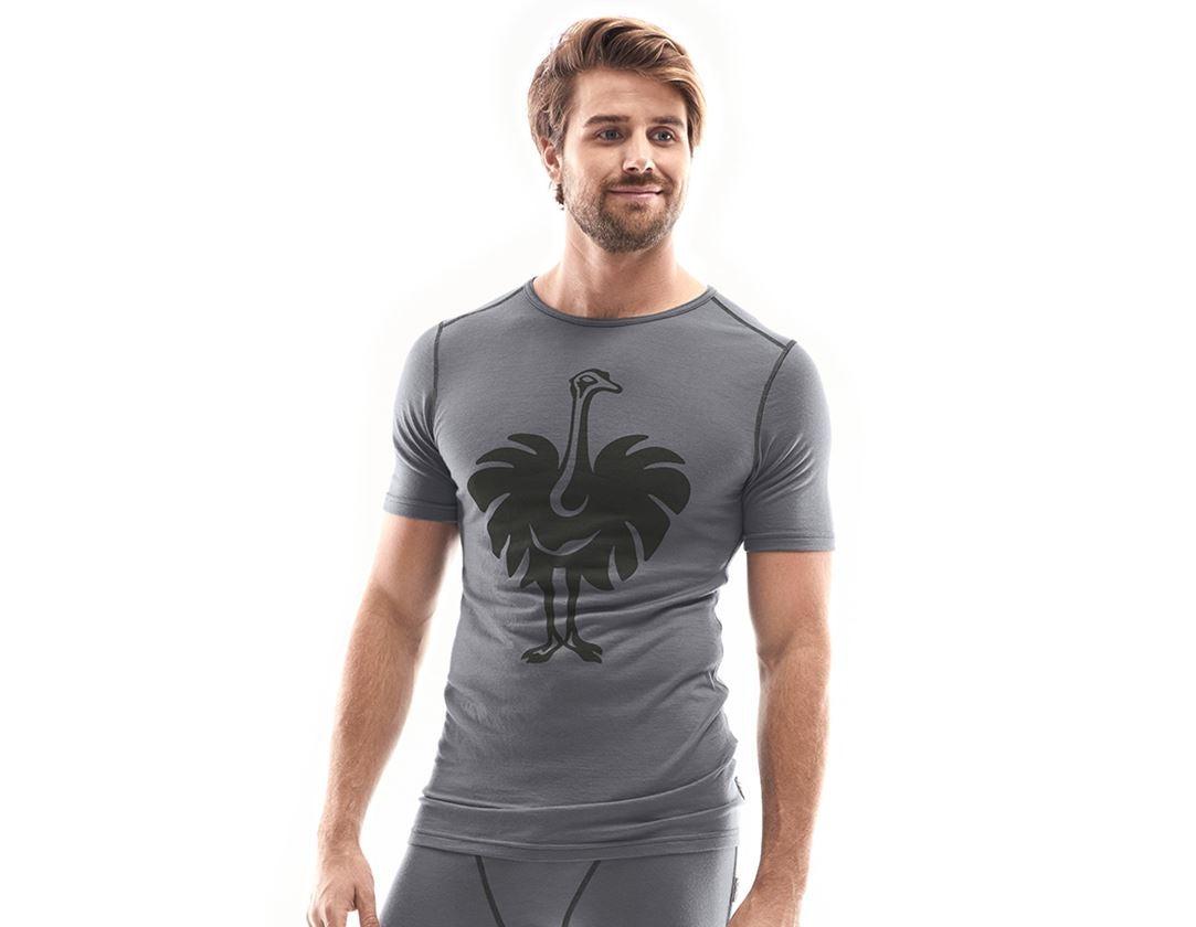 Ondergoed   Thermokleding: e.s. T-shirt Merino, heren + cement/grafiet
