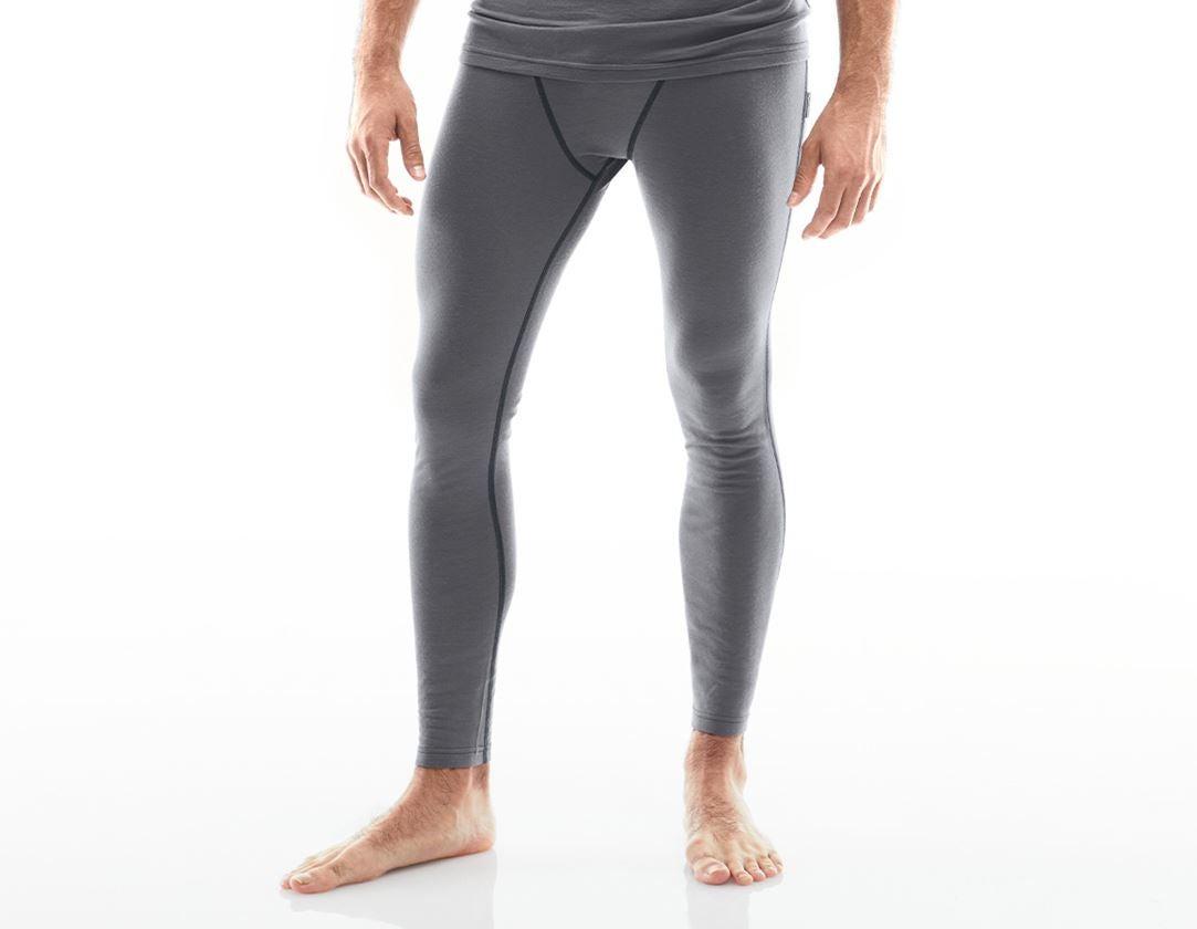 Ondergoed | Thermokleding: e.s. Boxer Merino, heren + cement/grafiet