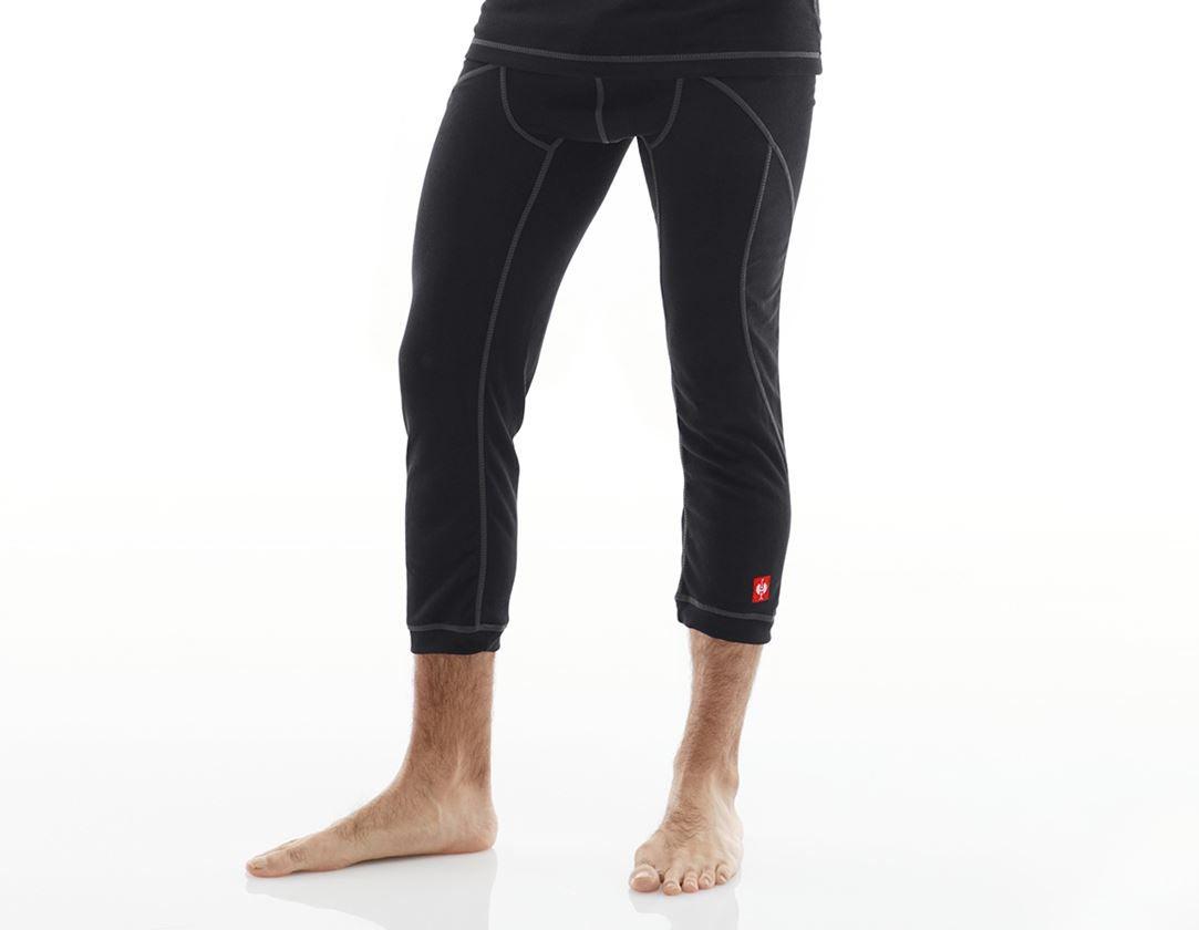 Ondergoed | Thermokleding: e.s. Functionele-3/4 Pants basis-warm + zwart
