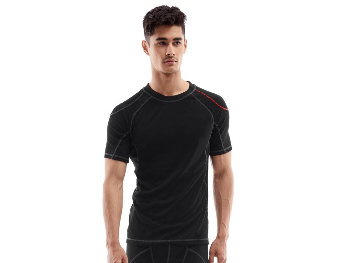Ondergoed   Thermokleding: e.s. Functionele-T-shirt basis-warm + zwart
