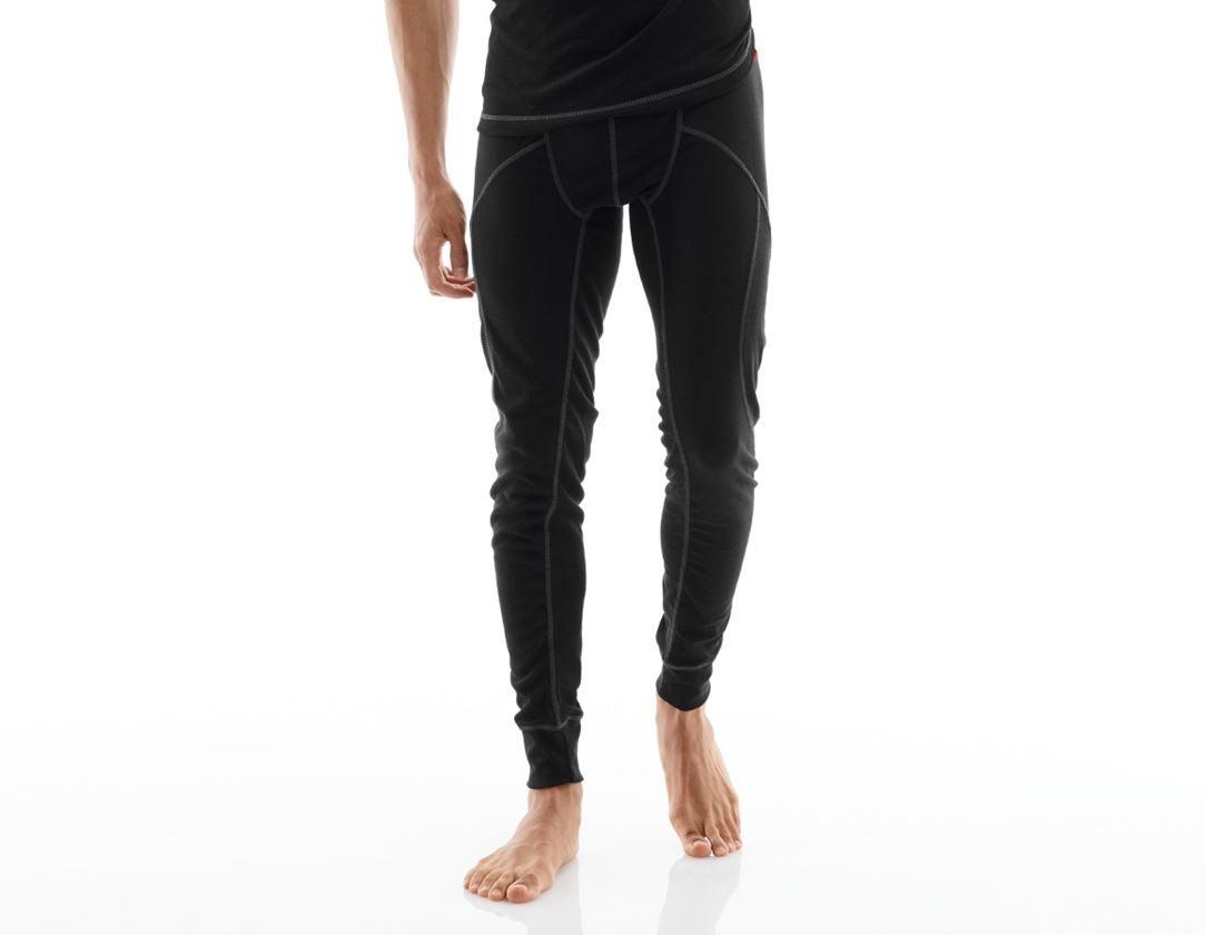 Ondergoed | Thermokleding: e.s. Functionele-Long Pants basis-warm + zwart