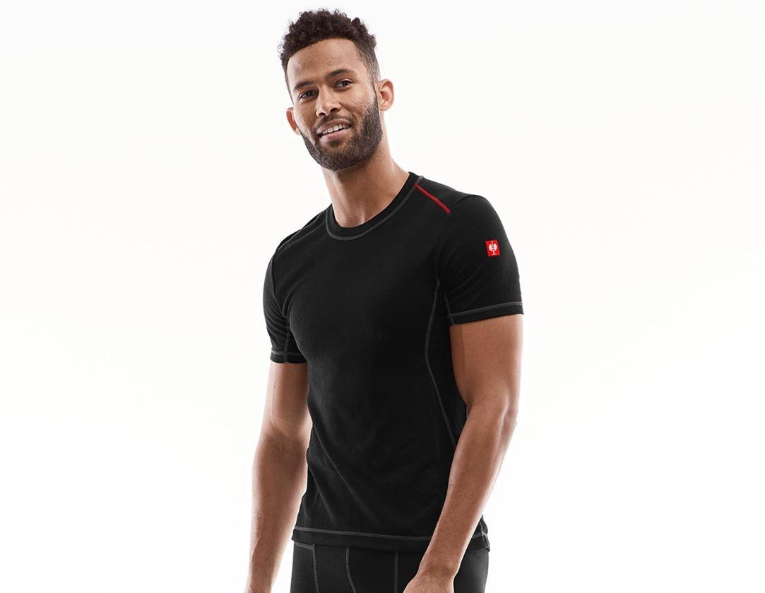 Ondergoed | Thermokleding: e.s. Functionele t-shirt basis-light + zwart