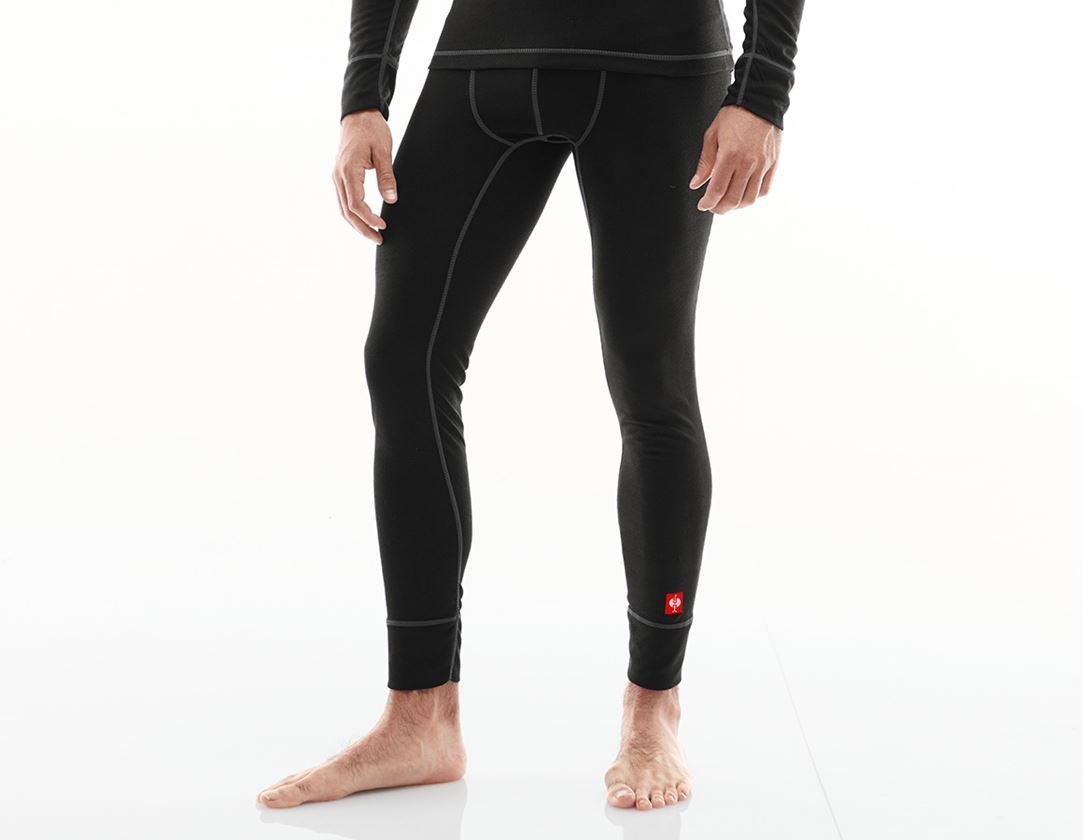 Ondergoed | Thermokleding: e.s. Functionele-Long Pants basis-light + zwart