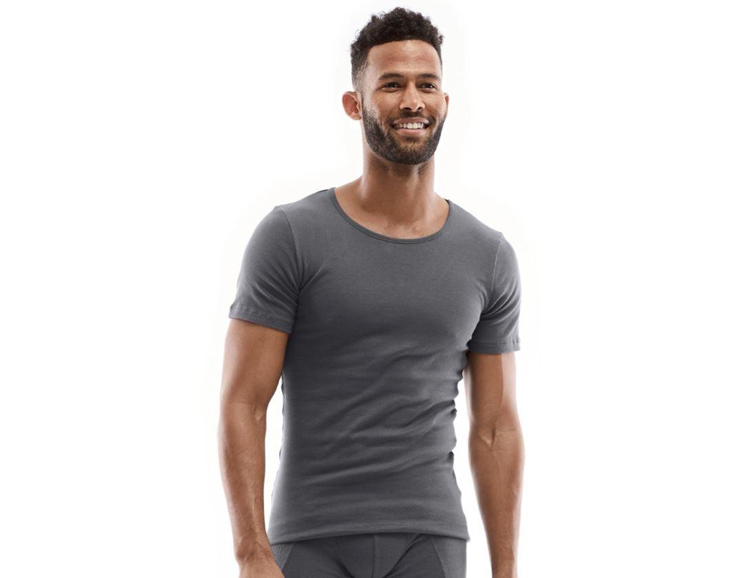 Ondergoed | Thermokleding: e.s. Cotton rib T-shirt + titaan