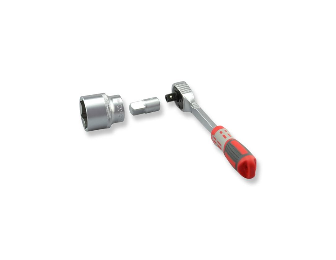 Dopsleutel: e.s. Vergrotingsadapter 3/8 op 1/2