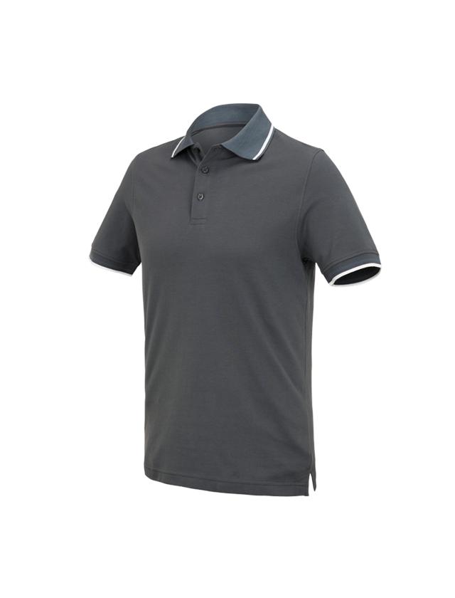 Bovenkleding: e.s. Polo-Shirt cotton Deluxe Colour + antraciet/cement