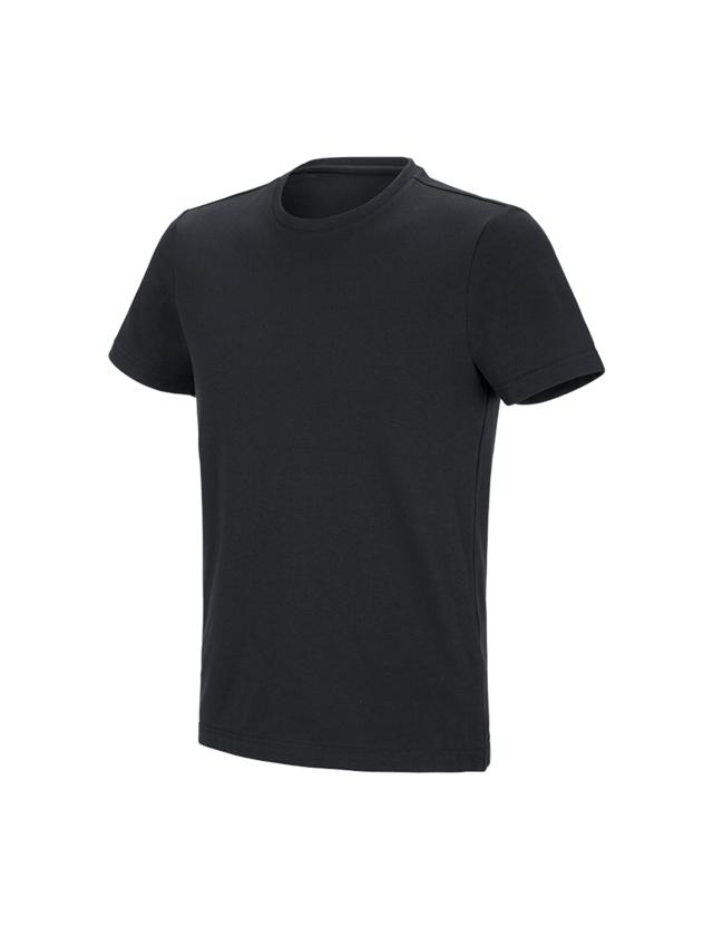 Shirts & Co.: e.s. Funktions T-Shirt poly cotton + schwarz