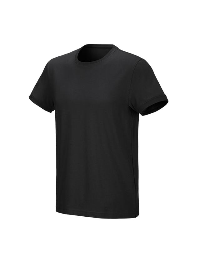 Bovenkleding: e.s. T-Shirt cotton stretch + zwart