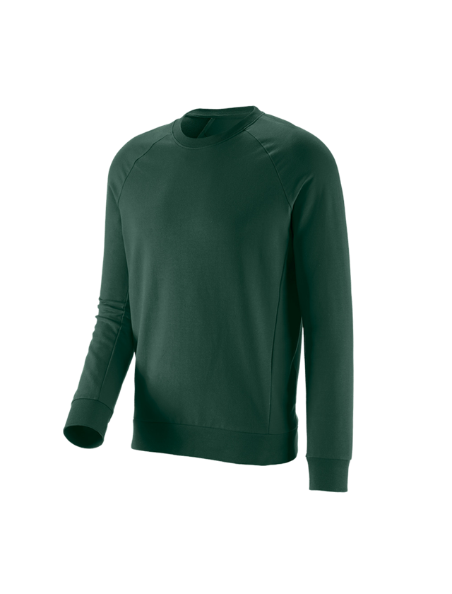 Bovenkleding: e.s. Sweatshirt cotton stretch + groen