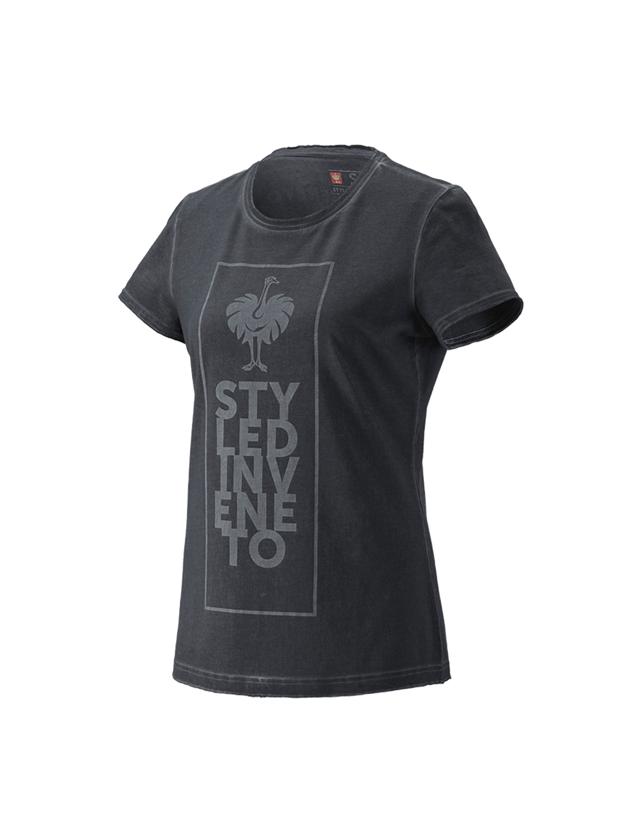 Bovenkleding: T-Shirt e.s.motion ten veneto, dames + oxidezwart vintage