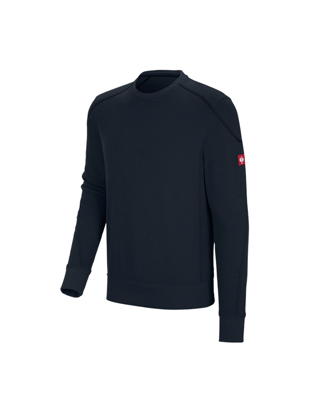 Bovenkleding: Sweatshirt cotton slub e.s.roughtough + nachtblauw