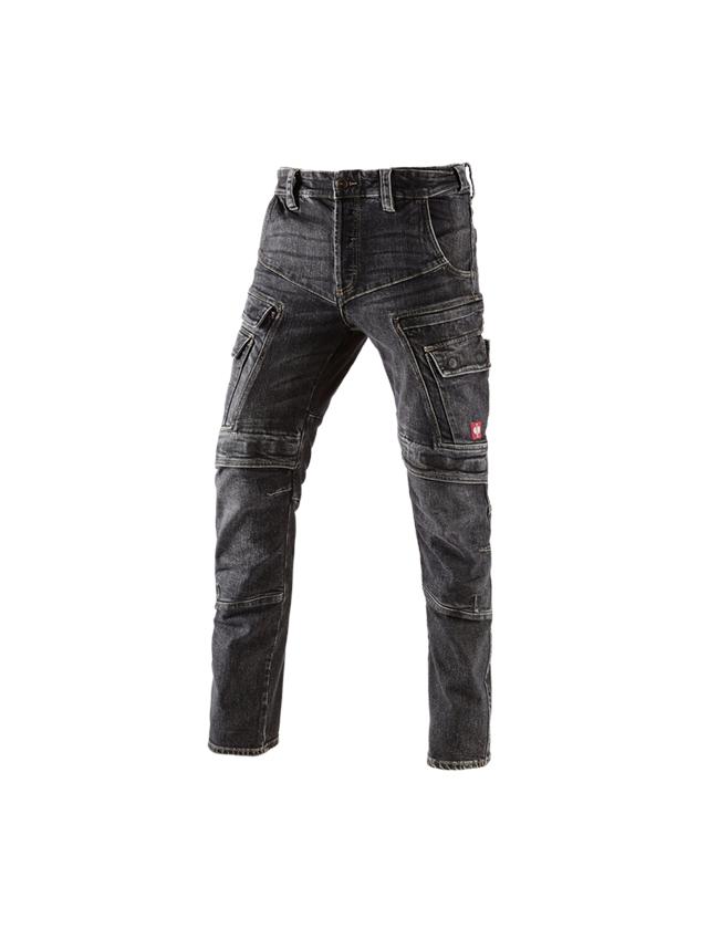 Werkbroeken: e.s. cargo worker-jeans POWERdenim + blackwashed
