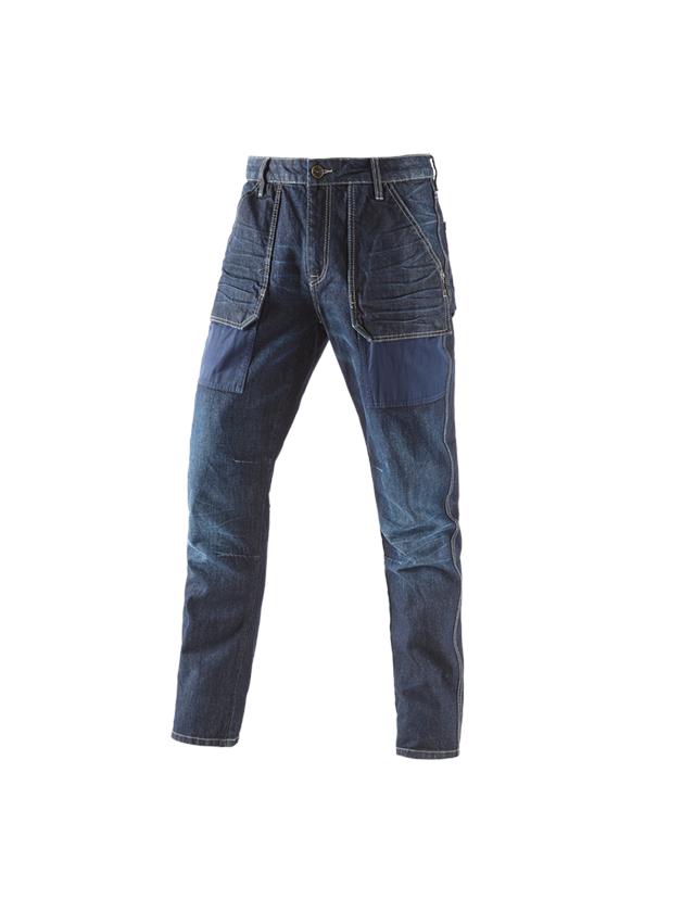 Werkbroeken: e.s. 7- pocket-jeans POWERdenim + darkwashed
