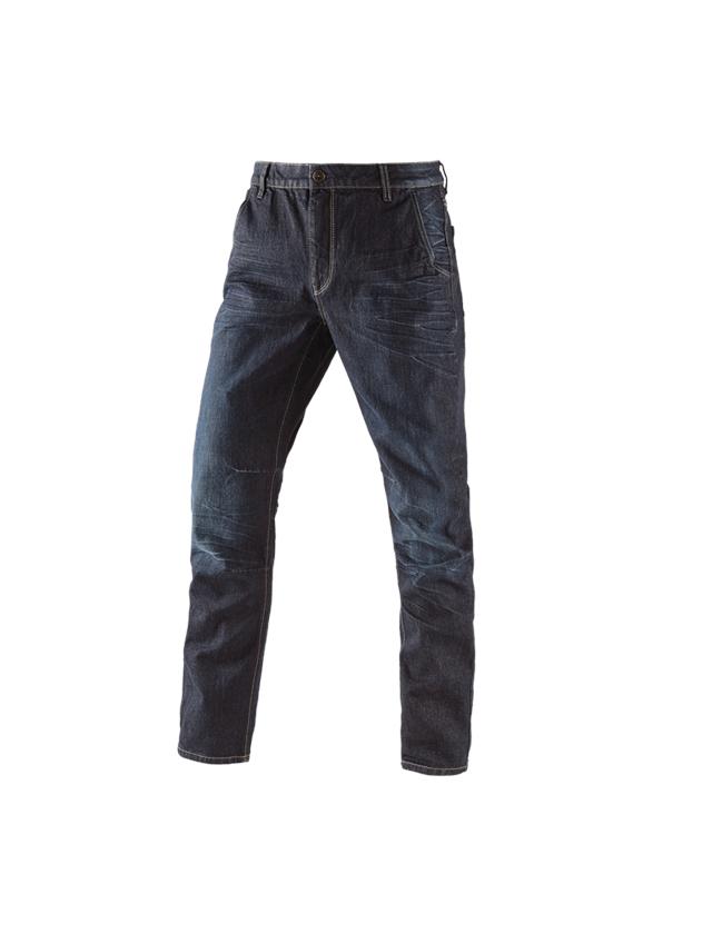 Werkbroeken: e.s. 5-pocket-jeans POWERdenim + darkwashed