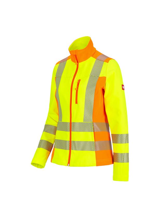 Werkjassen: Veiligh-softsh-jack softlight e.s.motion 2020, dam + signaalgeel/signaaloranje
