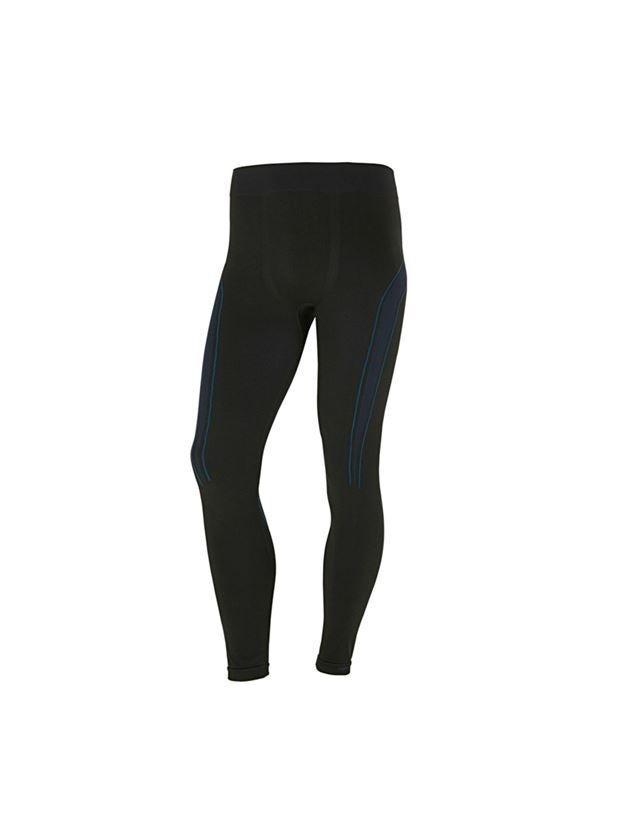 Ondergoed   Thermokleding: e.s. Functionele-Long Pants seamless-warm + zwart/gentiaanblauw