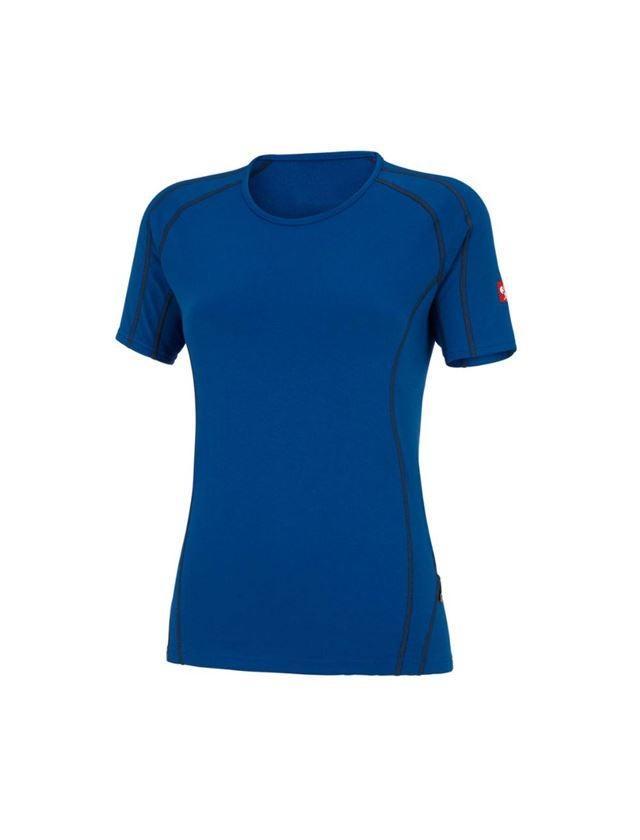Thermo Ondergoed: e.s. Functionele-T-Shirt clima-pro,warm, dames + gentiaanblauw