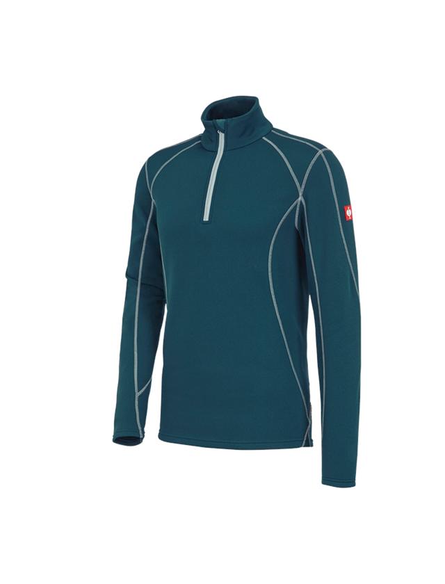 Bovenkleding: Schipperstrui thermo stretch e.s.motion 2020 + zeeblauw/platina