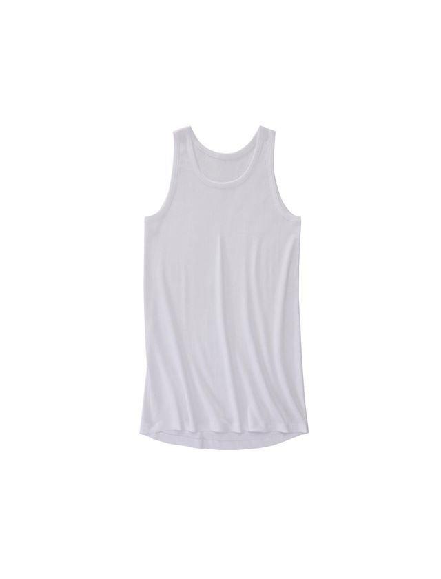 Ondergoed | Thermokleding: e.s. Hemd grove rib classic, extra lang + wit