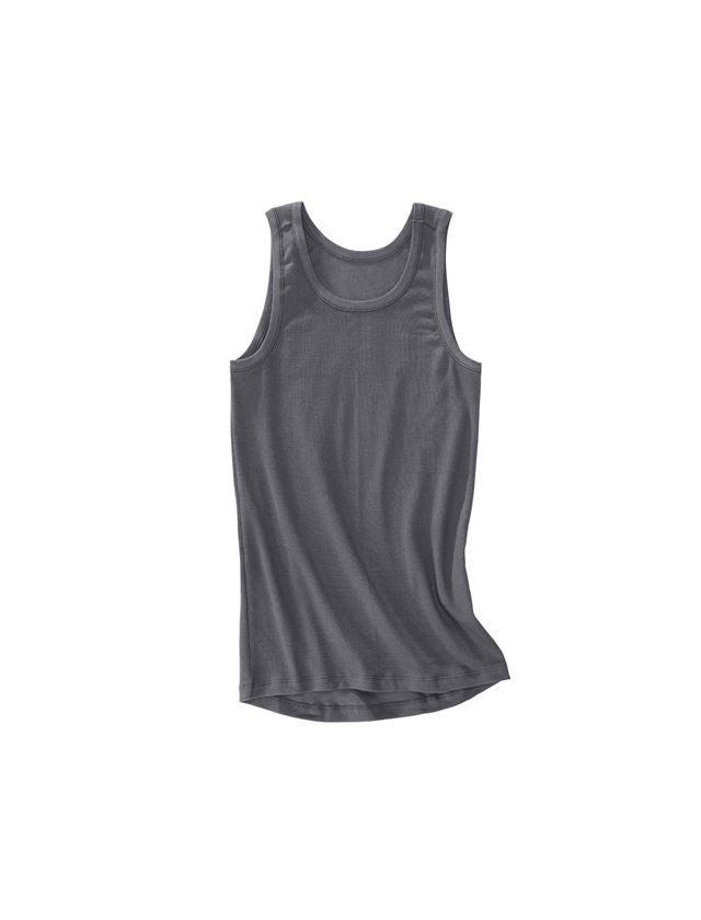Ondergoed   Thermokleding: e.s. Cotton rib tank-shirt + titaan