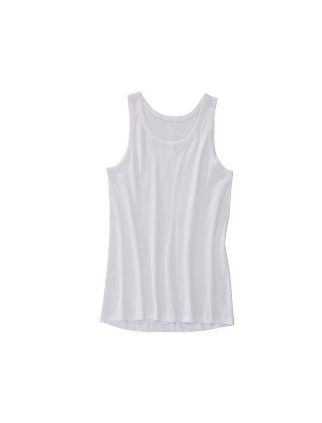 Unterwäsche   Thermokleidung: e.s. Unterhemd Feinripp classic + weiß