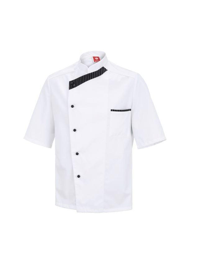 Bovenkleding: Koksjas Elegance, korte mouwen + wit/zwart