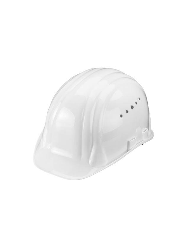 Schutzhelme: Schutzhelm Baumeister, 6-Punkt, Drehverschluss + weiß