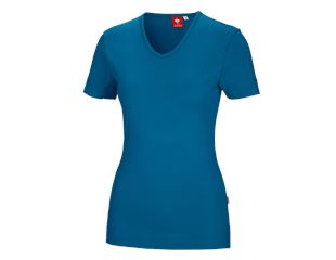 e.s. T-shirt cotton V-Neck, femmes