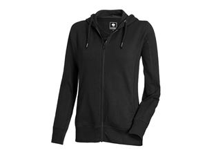e.s. Hoody sweat zippé poly cotton, femmes