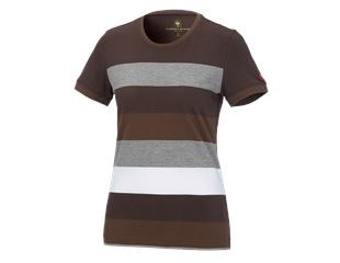e.s. Pique-Shirt cotton stripe, Damen
