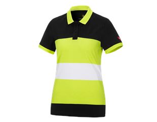 e.s. Pique-Polo cotton stripe, Damen