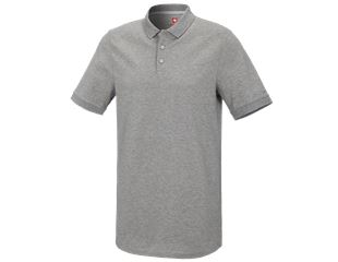 e.s. Piqué-Polo cotton stretch, long fit