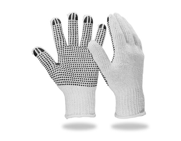 Revêtement: Gants en tricot en PVC Black-Point