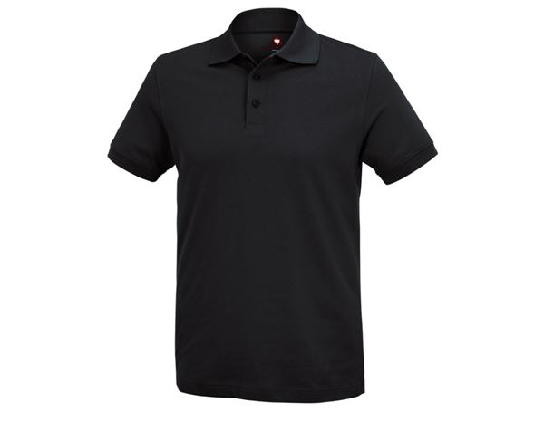 Poloshirts: e.s. Polo-Shirt cotton Deluxe + zwart