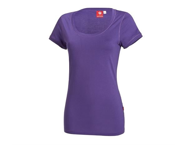 Bovenkleding: e.s. Long-Shirt cotton, dames + lilas