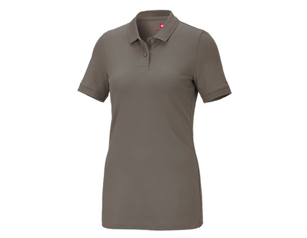 Shirts & Co.: e.s. Piqué-Polo cotton stretch, Damen + stein